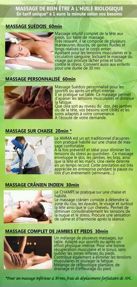 Massage Suédois chez vous ou chez moi